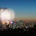 New Years Eve fireworks over Sydney by Daniel Pertovt
