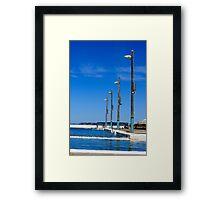 Lights in blue Framed Print