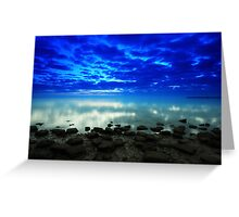 stillness of the bay Greeting Card