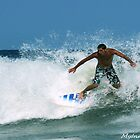 #452  Surfer At Spring lake, New Jersey by MyInnereyeMike