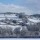 Wintry snowscape in Devon by durzey