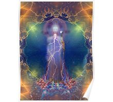 Quan Yin and the silent song of the lightning white rose of wisdom Poster
