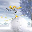 The downhill skier by Carol and Mike Werner