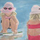 Girls Playing on the Beach  by Jennifer Ingram