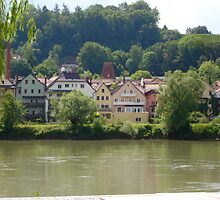 Across the River in Passau Germany by Alecia Hoobing