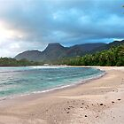 Sunset on Barbarons Beach, Seychelles by Cindy Ritchie