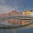 Dublin City Landmark, Ha'penny Bridge, Ireland by upthebanner