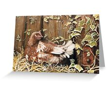 Detail from 'Hayloft Door' - Trompe L'oeil Greeting Card