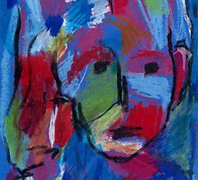 Face On Blue by Maya Hiort Petersen