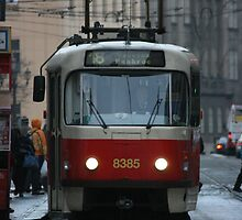 Prague Tram 1 by John Michael Sudol