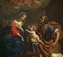 The Holy Family by Gennari by Bridgeman Art Library