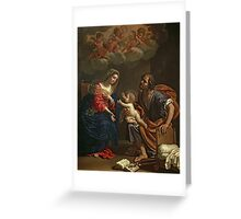 The Holy Family by Gennari Greeting Card