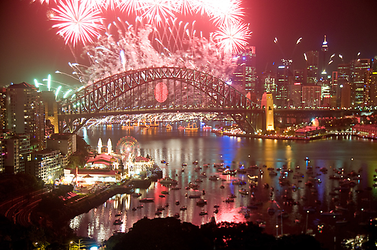 City Of Light - Sydney Harbour New Years Eve  by Philip Johnson