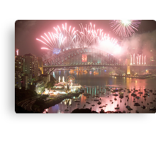 City Of Light # 2 - Sydney Harbour New Years Eve  Canvas Print