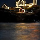 Nubble Lighthouse during Holidays by GarethWilton