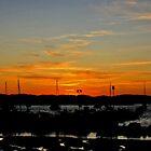 Sun sets in Sancti Petri Port by Timothy Adams