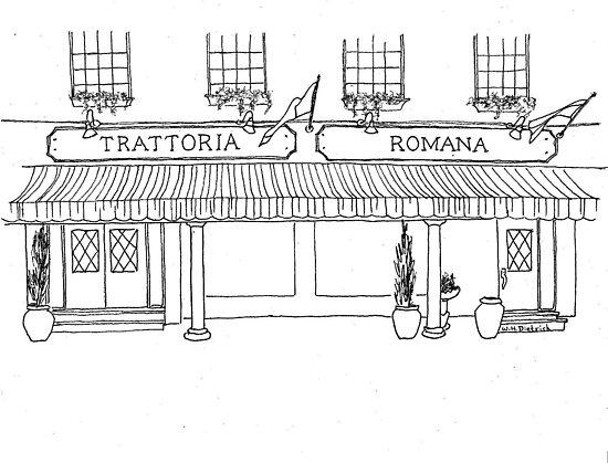 Trattoria Romana by W. H. Dietrich