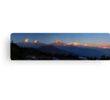 Annapurna, Hinchuli and Machhupuchare, Himalaya, Nepal. Canvas Print