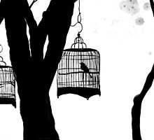 birds and trees by Loui  Jover
