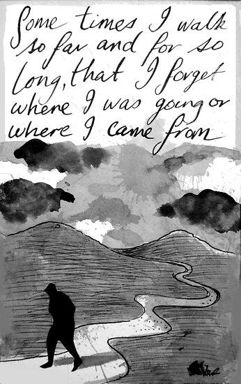 sometimes i walk.... by Loui  Jover