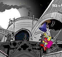 "Rick the chick ""THE HUNCHBACK OF NOTRE-DAME""  by CLAUDIO COSTA"