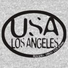usa los angeles tshirt by rogers bros co by usala