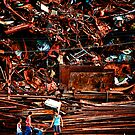 At the Scrap Pile by Ross Throndson