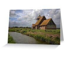 The church at Fairfield, Romney Marsh, Kent Greeting Card