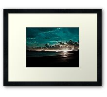 The Beach: On Explore Jan 8,2011, 3 Featured Works: Sold Jan2014 Framed Print