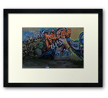 Art on the Parking Lot Wall Framed Print