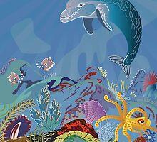 Digital art animals calendar by Linda Thibault