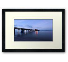 The Naples Pier Framed Print