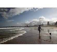 Beach Running Photographic Print