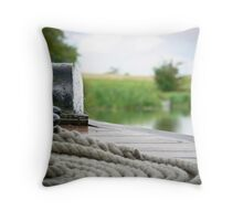 The Fender & the Mooring Rope Throw Pillow