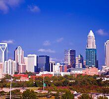 Charlotte NC skyline by Alexandr Grichenko