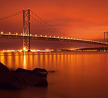 Forth Bridge In Gold by Don Alexander Lumsden (Echo7)
