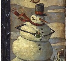 Snowman with cup by Tim Lee