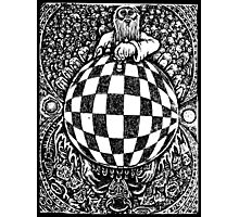 Heaven vs Hell  in Chess FishEye Drawing Revised Photographic Print