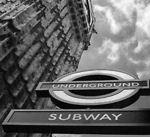 Black and White Underground by John Bullen