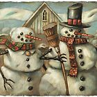 American Gothic snow couple by Tim Lee