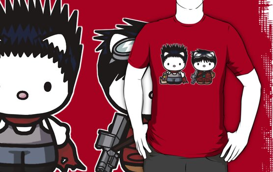 Tetsuo and Kaneda Hello Kitties by TheRandomFactor