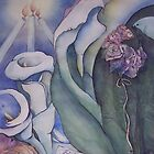 Sara's wedding  paintings and symbols by Ellen Keagy