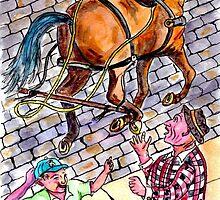 Runaway Horse by lifeonthestoop