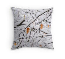 The Last Leaves Throw Pillow