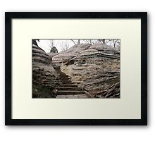Baby steps to heaven Framed Print