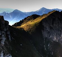 Sunrise on the Picos at Fuente De by Christopher Cullen