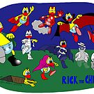 "Rick the chick ""MONSTERS AND SUPERHEROES"" by CLAUDIO COSTA"