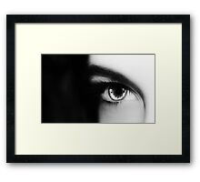 she sees me Framed Print