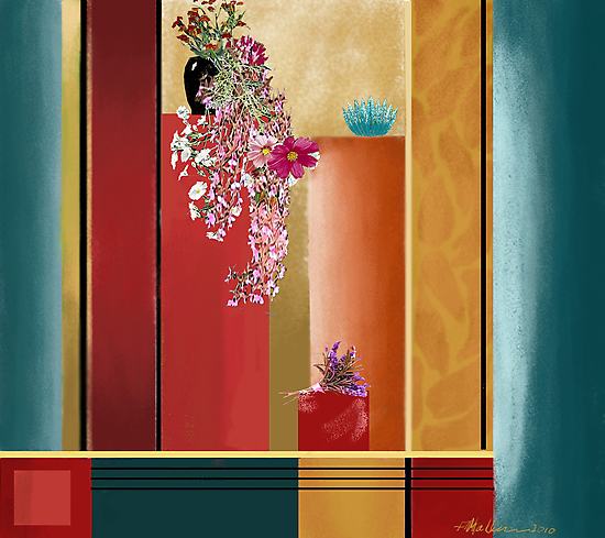 """""""Small Bouquet"""" - Abstract realism by Patrice Baldwin"""