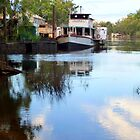 Echuca paddleboats at the Wharf by Julie Sleeman